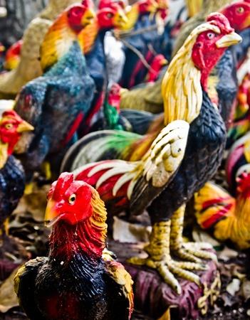 fighting cock: fighting cock figure Stock Photo