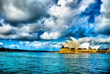 SYDNEY, AUSTRALIA - APRIL 16 Opera house2 on April 16, 2013 in Sydney, Australia  Which is HDR style Editorial