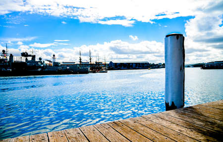 Wooden harbour in Darling Harbour, Sydney Australia photo