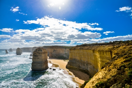 The twelve apostles in Great Ocean Road Australia