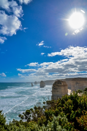 amazing stunning: The twelve apostles in Great Ocean Road Australia