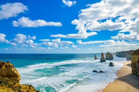 The twelve apostles in Great Ocean Road Australia