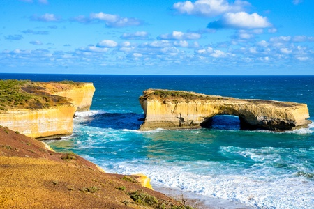 London bridge in Great Ocean Road Australia Stock Photo