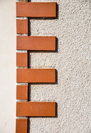 corner house: Brick corner pattern