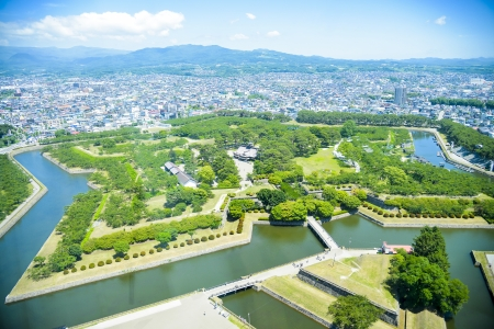 Goryokaku Park in Hakodate   Stock Photo
