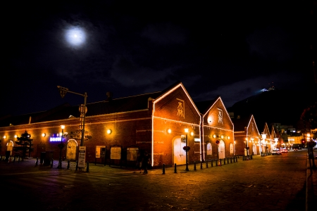 Red brick warehouse in Hakodate   Stock Photo
