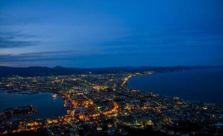 Beautiful scene in Hakodate Japan Stock Photo - 21752929