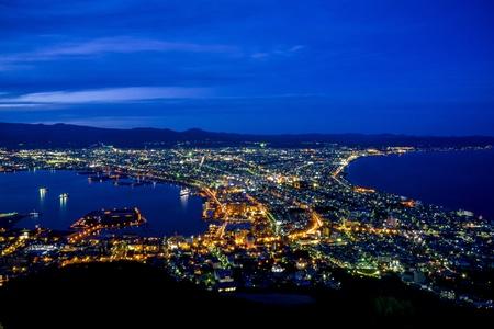 Hermosa escena en Hakodate Japón Foto de archivo - 21752932