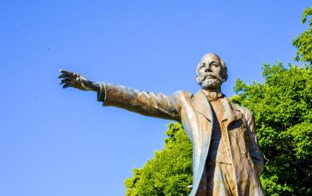 Le professeur Clark Statue à Sapporo Japon5 Banque d'images