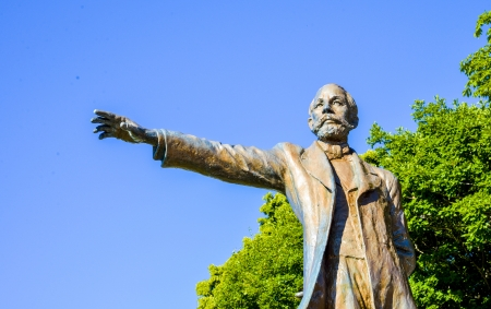 Professor Clark Statue in Sapporo Japan5 Stock Photo