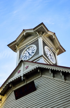Sapporo Clock Tower in Sapporo Japan2 Stock Photo