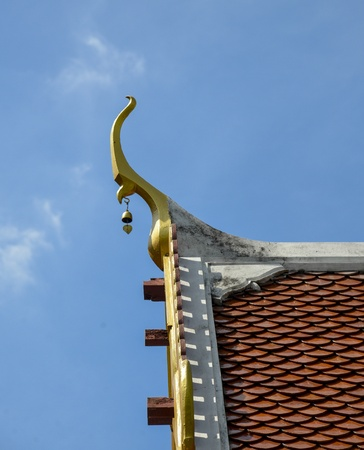 Roof temple of Thai style photo