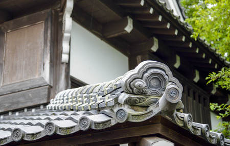 buddhist structures: Roof in Japanese style Editorial