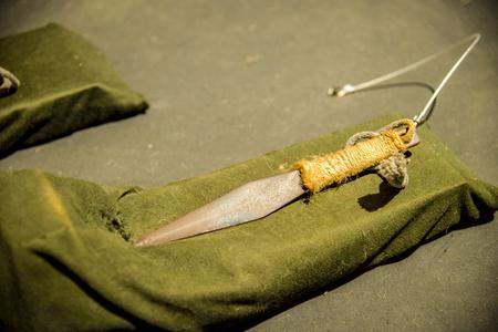 忍者の短いナイフ 写真素材