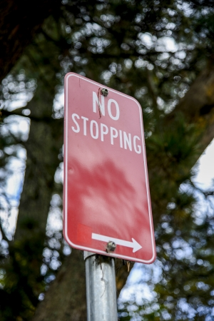 No stopping sign photo