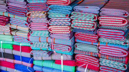 coloful: Coloful mats in Thai style Stock Photo
