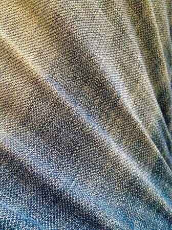jeans: Light blue jeans with strip pattern