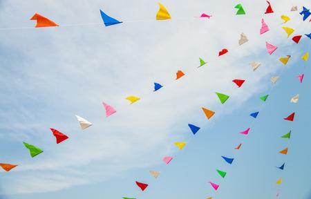 Drapeau coloré avec ciel bleu2 Banque d'images
