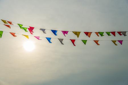 Drapeau coloré avec la sunset1