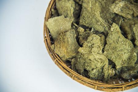 Dried soil salt in basketwork photo