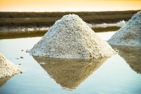 Pile of salt in the salt farm photo
