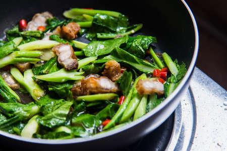 Stir-fried kale with crispy pork2 photo