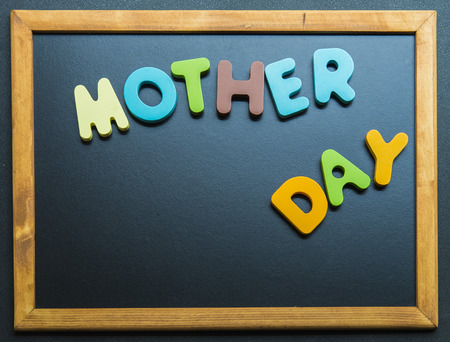 Mother day wooden word o2n black board1 photo