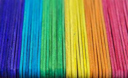 rainbow stripe: Colorful wooden stripe