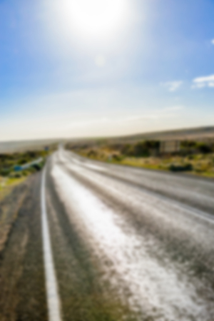 the Road in Blur style photo