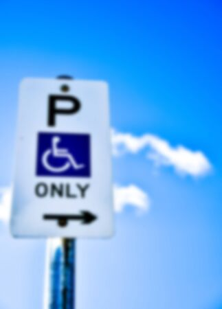 Handicapped Parking sign in Blur style photo