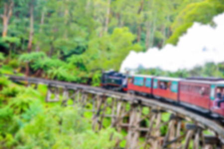 billy: Puffing Billy Train in Blur style Stock Photo