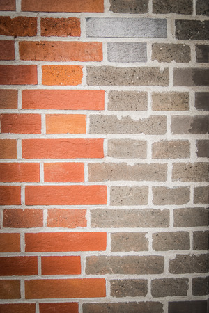 two tone: Two tone color brick wall