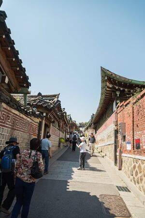 korean style house: Bukchon Hanok Village which have Old beautiful house in korean style