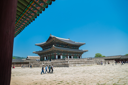 famous building: Geunjeongjeon building is famous building in Gyeongbokgung Palace