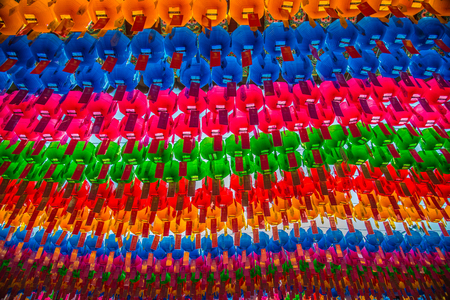lotus lantern: Colorful paper lantern for Lotus lantern festival in South Korea 4 Stock Photo