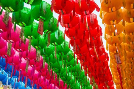 lotus lantern: Colorful paper lantern for Lotus lantern festival in South Korea 9 Stock Photo