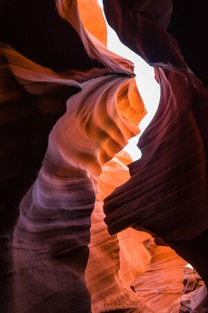 lower antelope: Lower Antelope canyon in Arizona America with under exposure and selective focus Stock Photo