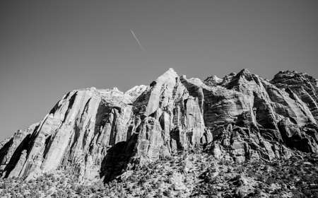 west river: Great mountain in Grand Canyon National Park Arizona with Black and white style Stock Photo