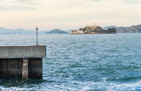 alcatraz: Alcatraz prison Island in San Franciso USA Stock Photo
