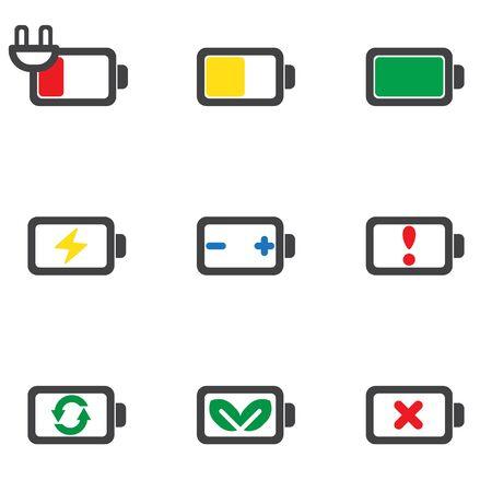 status icon: Status energy battery icon isolated vector Illustration