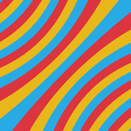 ripple effect: Colorful three color stripe curve abstract background concept