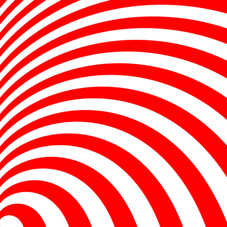 two tone: Two tone red stripes curve abstract background concept Illustration