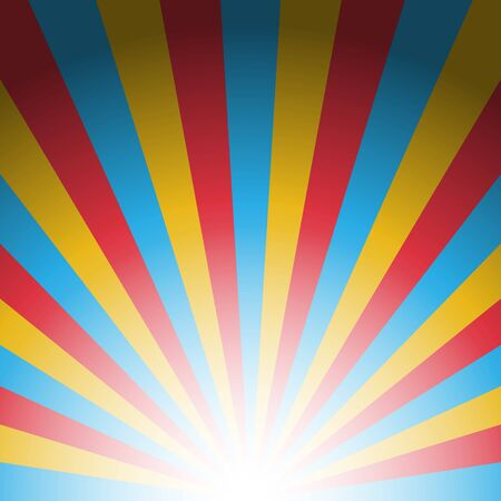 Colorful three color burst abstract background concept Illustration
