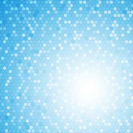 Blauw hexagon abstract concept als achtergrond Stock Illustratie