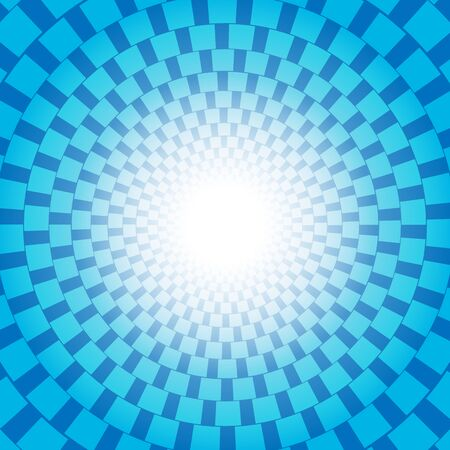 Blue checkered pattern with sun burst vector design for abstract background concept