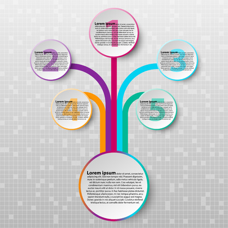 Paper circle with colorful edge from coloful line for website presentation cover poster vector design infographic illustration concept Illustration