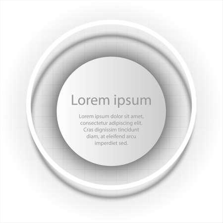 Papier blanc simple cercle 3D en anneau circulaire pour présentation de site web affiche conception de vecteur d'affichage illustration infographique concept Illustration