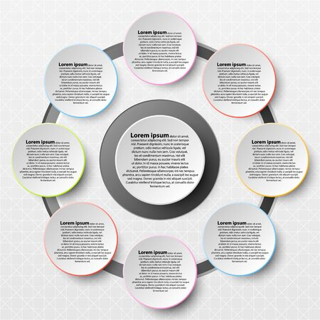 Paper Circle with colorful edge on drop shadow for website presentation cover poster vector design infographic illustration concept