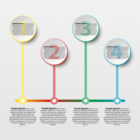 Coloful paper circle with colorful line for website presentation cover poster vector design infographic illustration concept Illustration