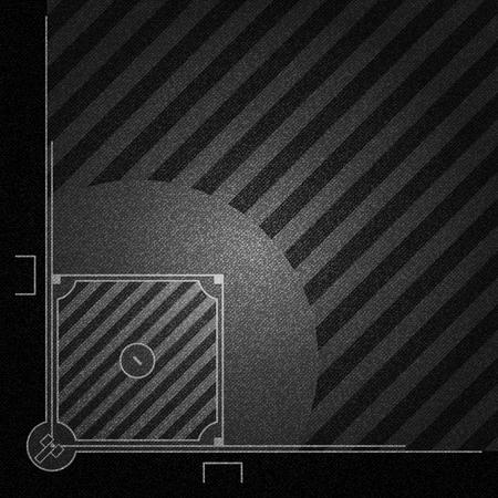 Realistische Zwarte Denimtextuur van vector het ontwerpconcept van de Honkbalveldelement